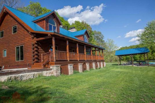 lake lacygne ks l12162 real log homes
