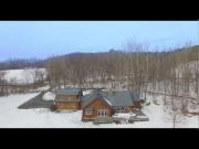 Danby, VT Real Log Home Virtual Tour (9775)
